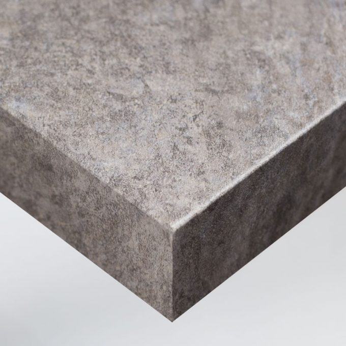 Customized furniture with textured conformable self-adhesive covering Grey Stone for a mix natural stones effect