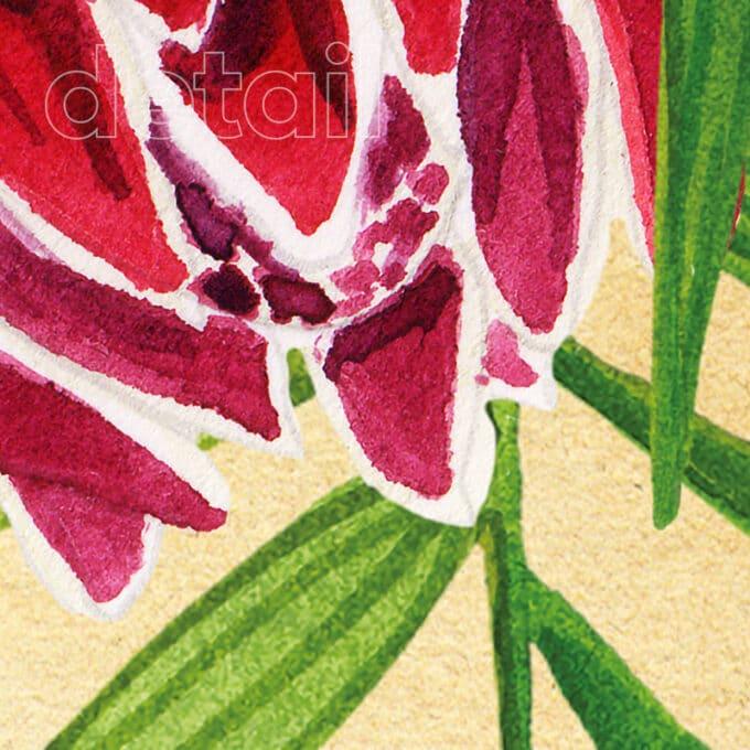 carta da parati red blooming andrea tarella ambientha