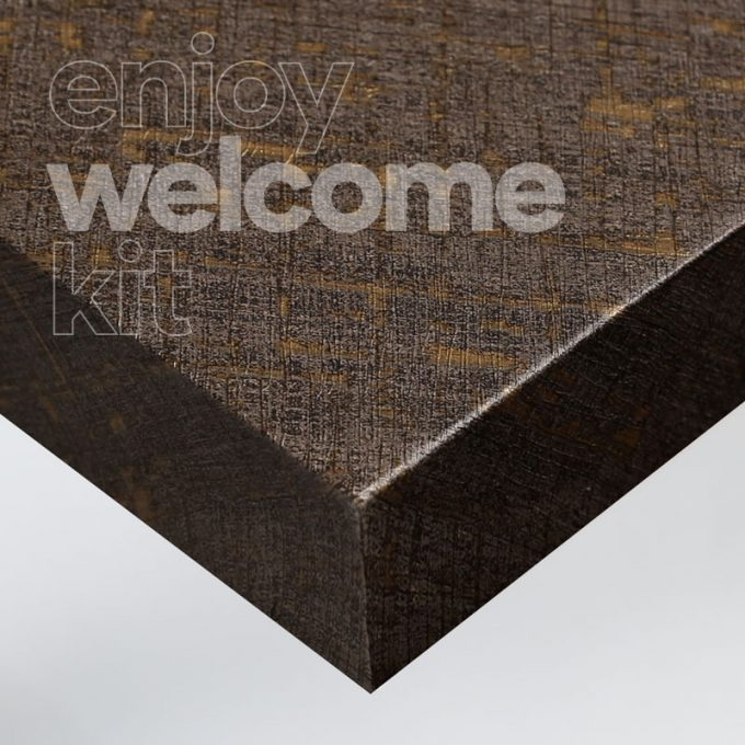 Textured conformable self-adhesive covering Gold Scratches Fabric for your Welcome Kit