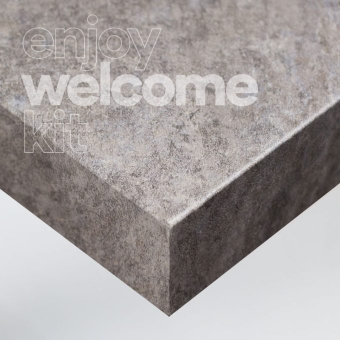 Textured conformable self-adhesive covering Grey Stone for your Welcome Kit