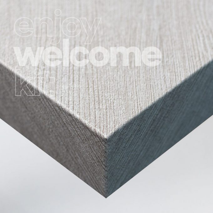 Textured conformable self-adhesive covering Light Stone for your Welcome Kit