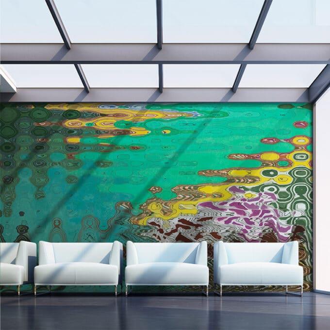 carta da parati rainforest reflections design by lauren wan