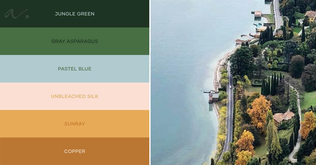 color palette lake view