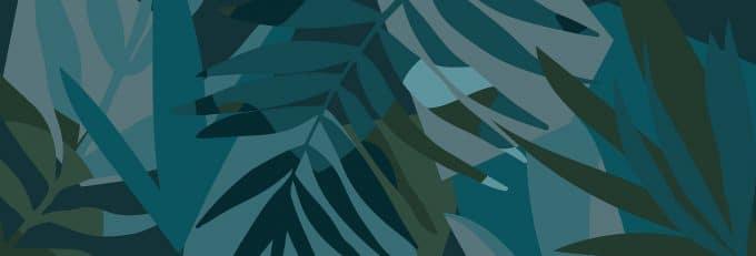 carta da parati foresta Javari Midnight by Martina Banozic - Ambientha