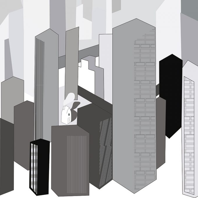 carta da parati Metropolis Chart by Chiara Dattola - Ambientha