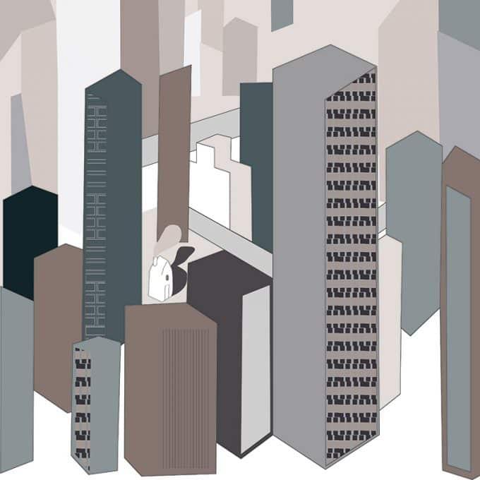carta da parati Metropolis Underground by Chiara Dattola - Ambientha