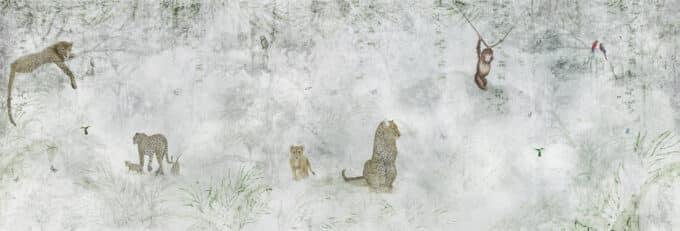 carta da parati giungla ambientha