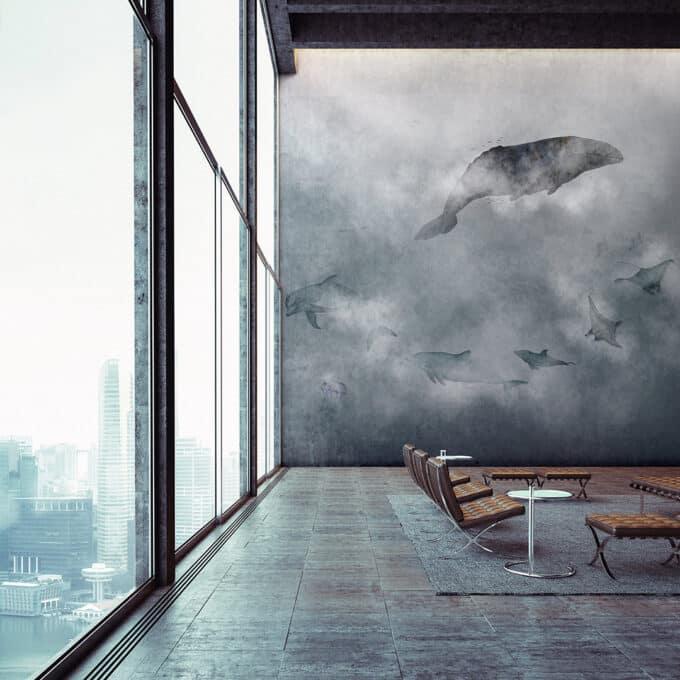 carta da parati blubalena clouds ambientha