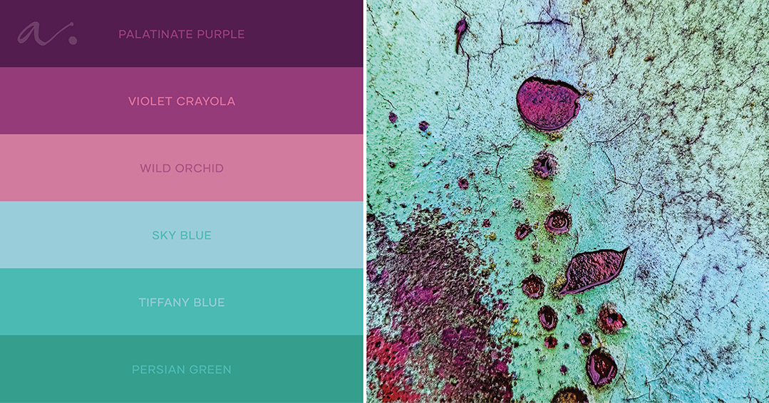colour palette raw collage #livingtheinspiration