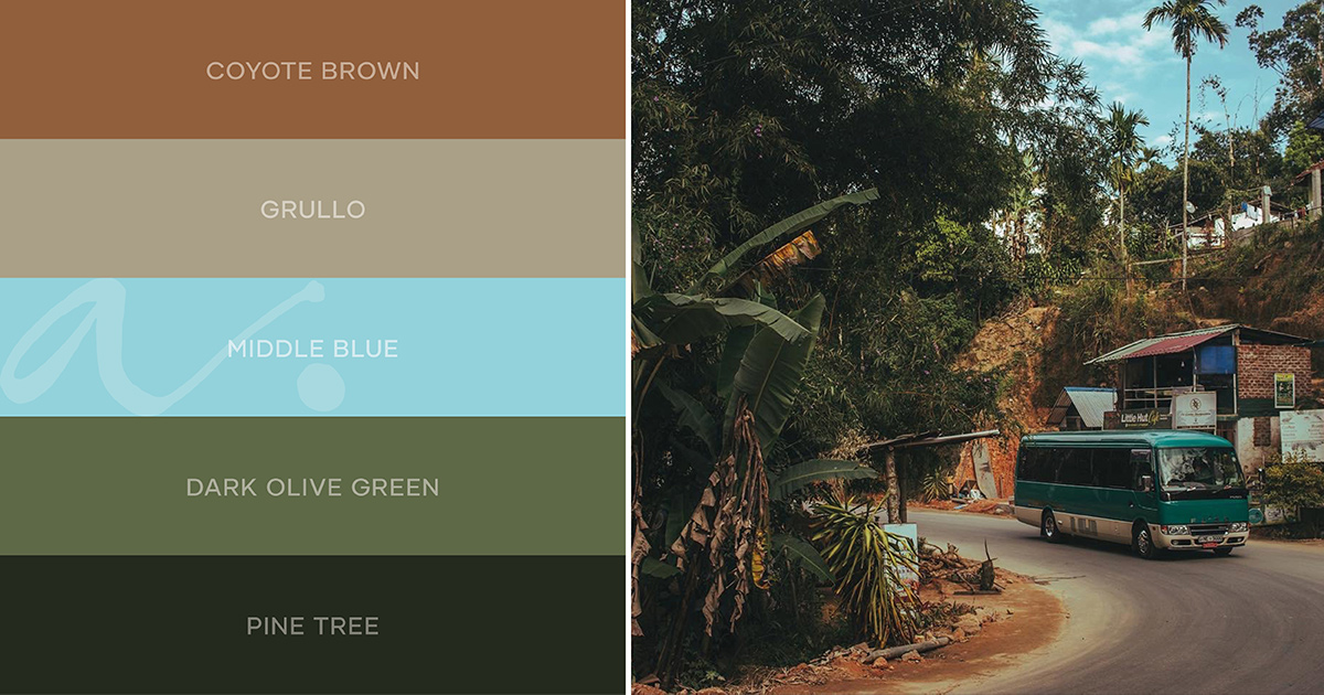 color palette #livingtheinspiration