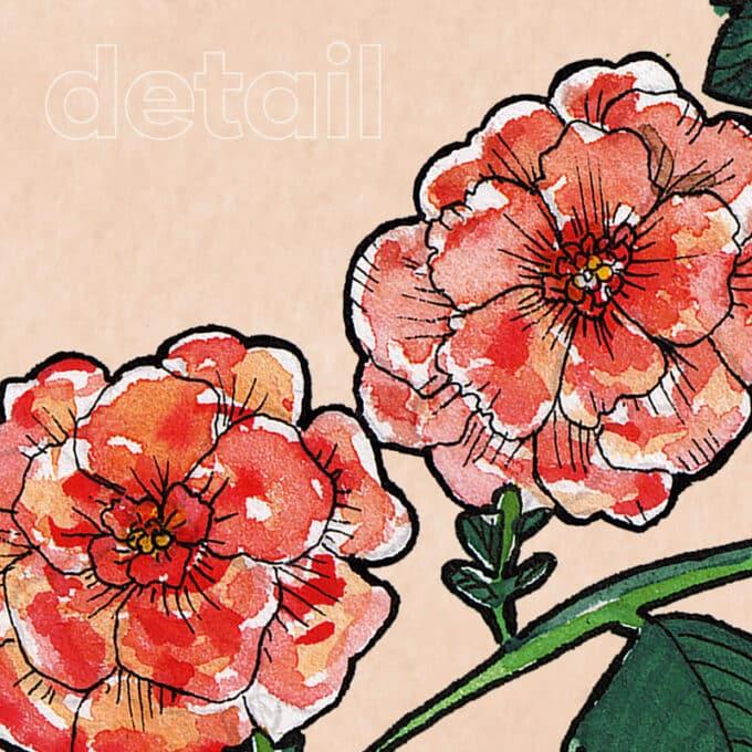carta da parati rustic bouquet ambientha