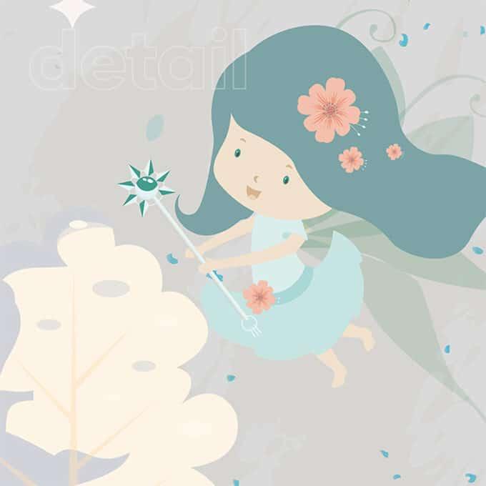 carta da parati fairyland magic cameretta lorena nicolosi ambientha