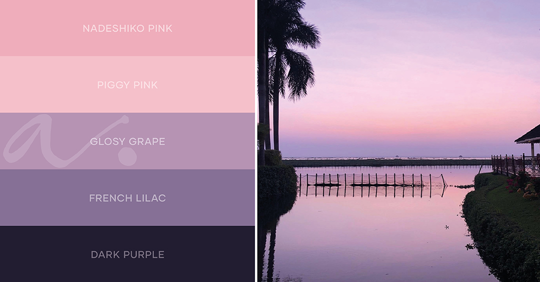 color palette serenity of backwater