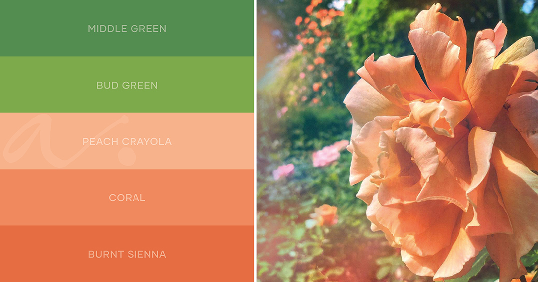 color palette garden celebration