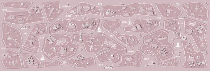 carta da parati bambini treasure atlas