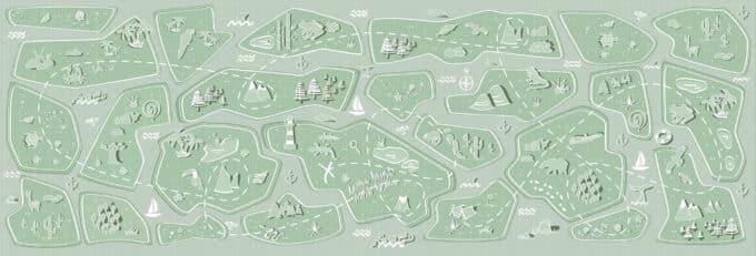 carta da parati bambini treasure map