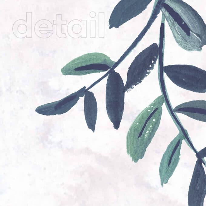 carta da parati piante Blue Greenery