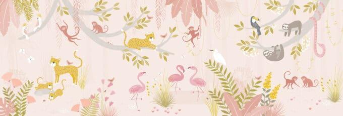 carta da parati giungla bambini ambientha baby wild