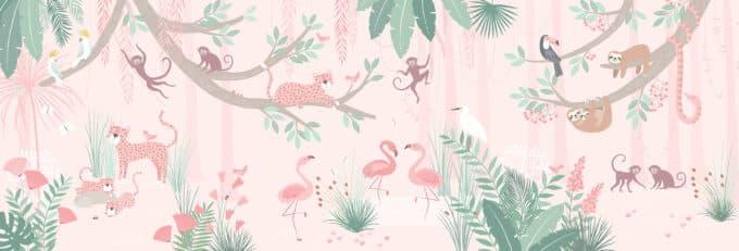 carta da parati giungla bambini ambientha mini wild