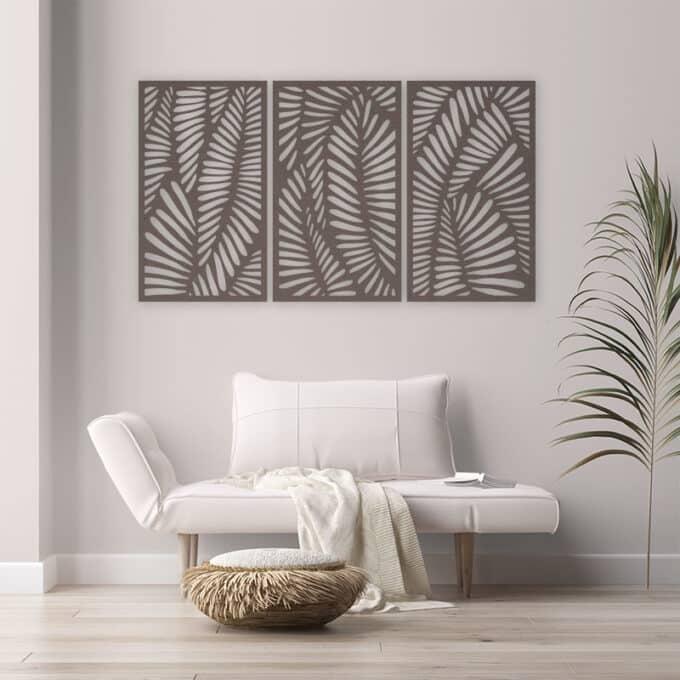 pannelli decorativi intagli leaves