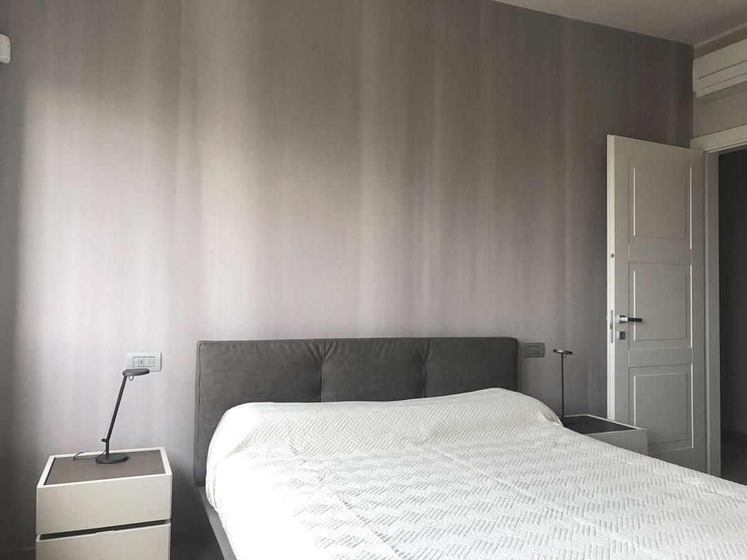 carta da parati soggiorno e camera da letto progetto