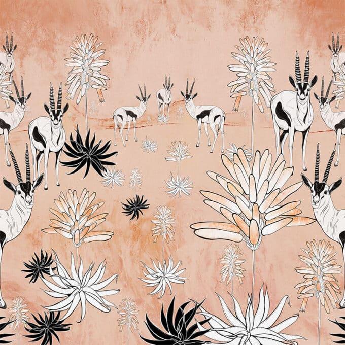 carta da parati africa oryx rocks ambientha