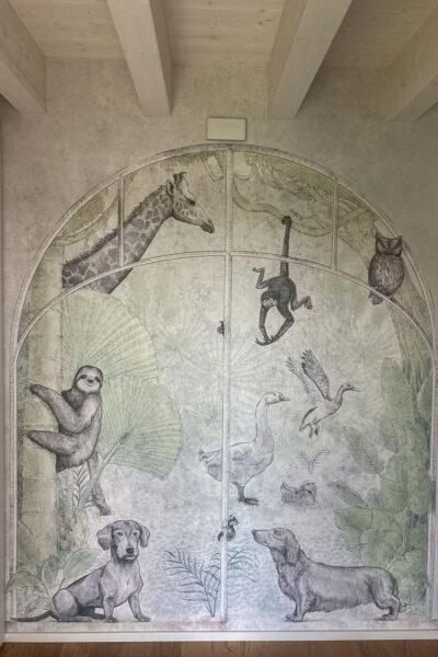 carta da parati ingresso animali