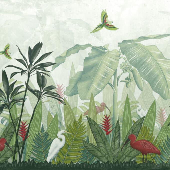 carta da parati foresta tropicale